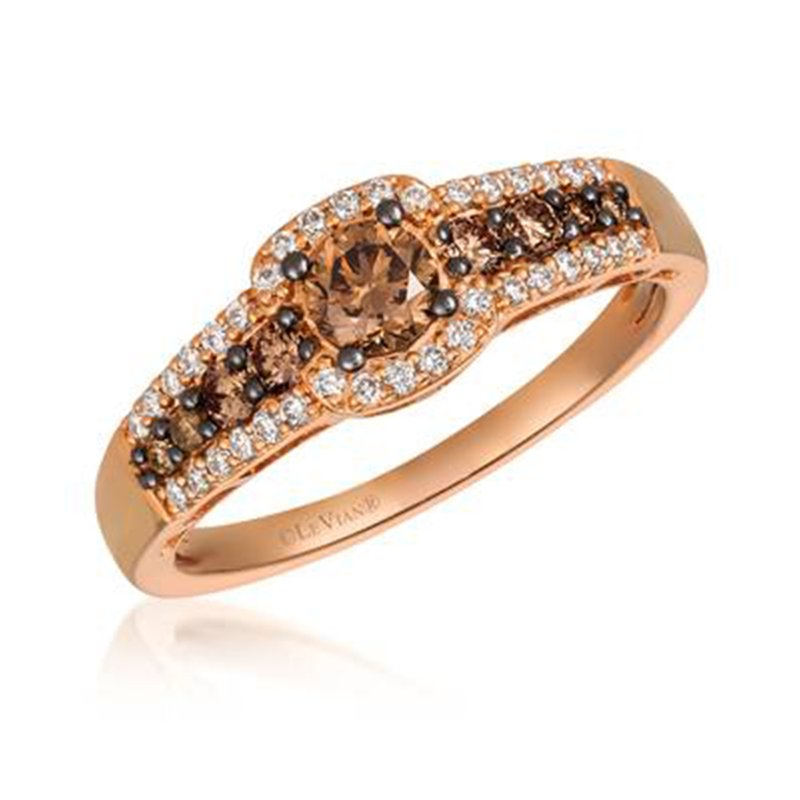 Le Vian Rose Gold .67 ctw Chocolate Engagement Ring