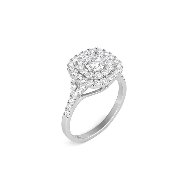Promise Forever Certified 1ctw Double Halo Engagement Ring