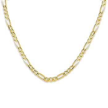 """10KY 5.6mm 22"""" Figaro Necklace"""