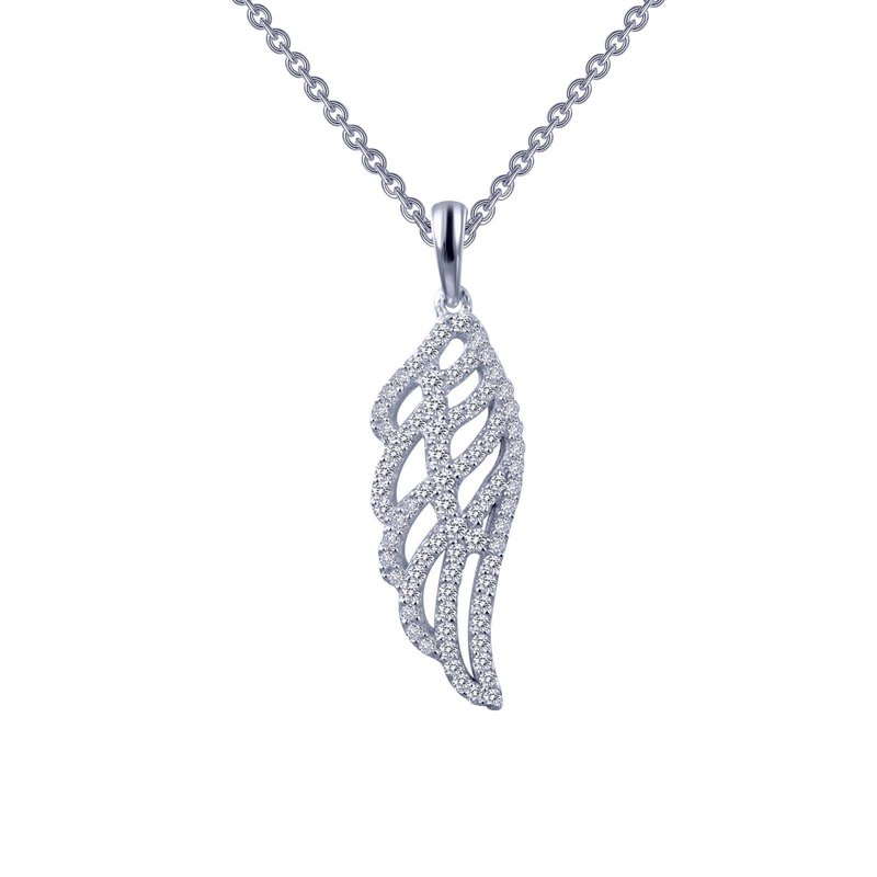 LaFonn Angel Wing Pendant Necklace