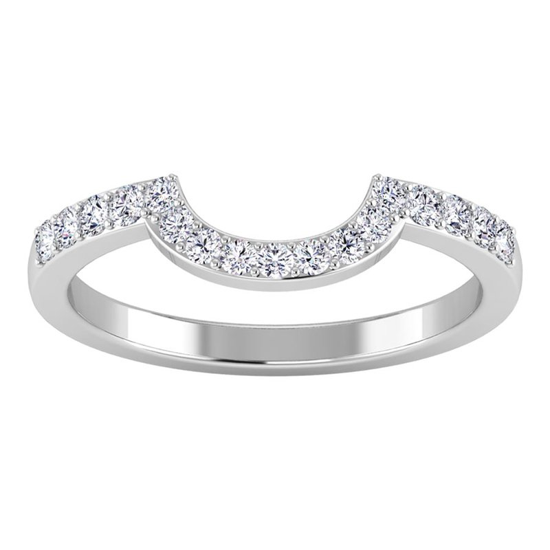 Lab Grown Diamonds Certified 1/4ctw Diamond Wedding Band