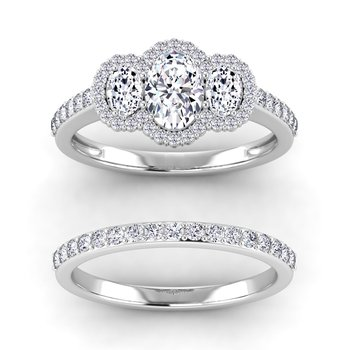 Certified 1 1/2ctw Halo Engagement Ring