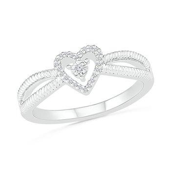 .06ctw Diamond Heart Ring