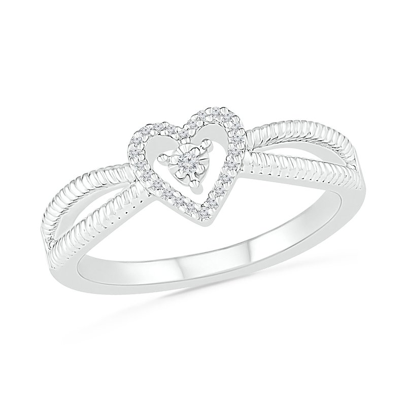 Gifts That Rock .06ctw Diamond Heart Ring
