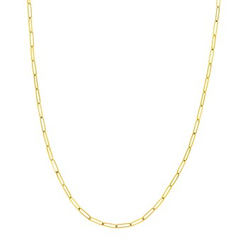 "YG 24"" 2.6M Paper Clip Necklace"