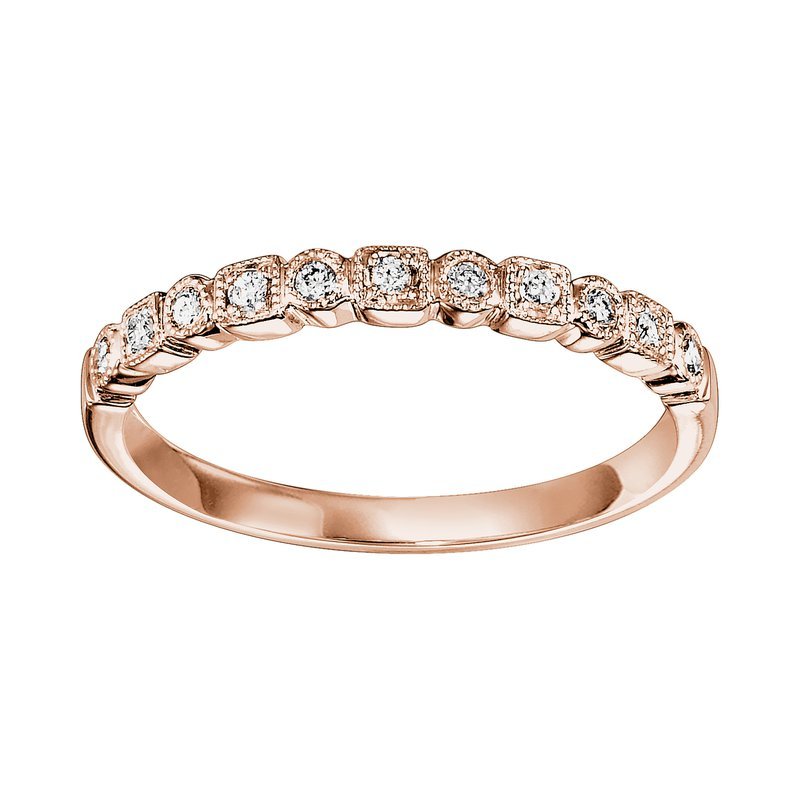 Saslow's & Henebry's Collection .10ctw Diamond Band Mixable Pink Gold