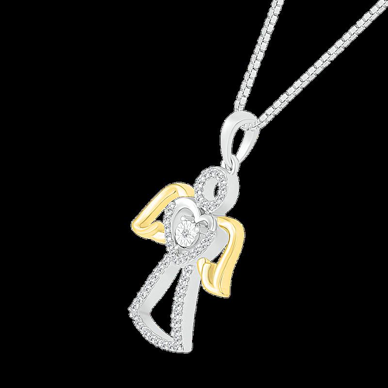 Saslow's & Henebry's Collection Diamond Angel Pendant