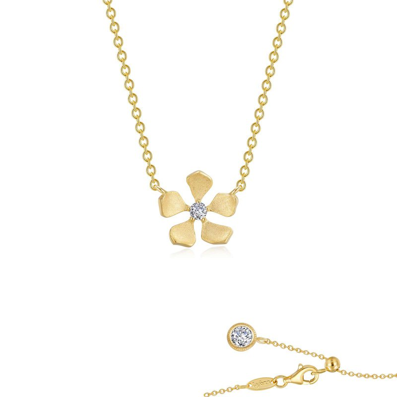LaFonn Delicate Flower Necklace