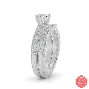 1.26CT Lab Grown Bridal Set
