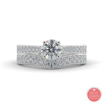 1.26CT Diamond Bridal Set
