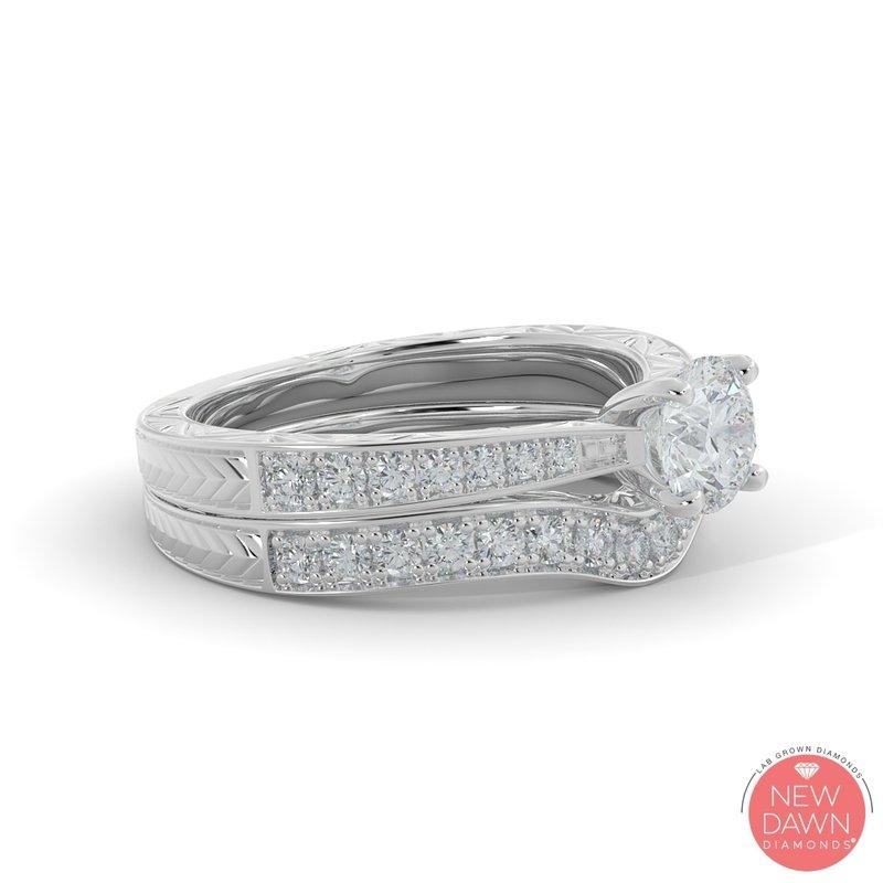 Lab Grown Diamonds 1.26CT Diamond Bridal Set