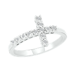 Gifts That Rock Diamond Illusion Cross Ring