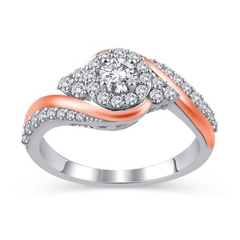 3/4 ct Royal Colorless Two Tone Engagement Ring