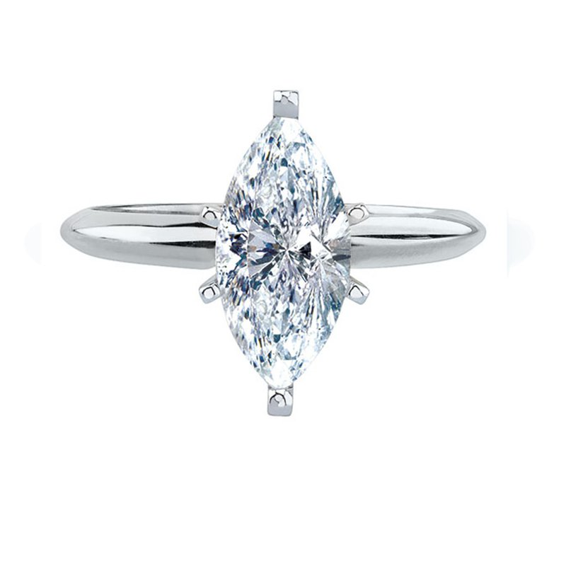Saslow's & Henebry's Collection 3/4 Ct Marquise Solitaire Engagement Ring