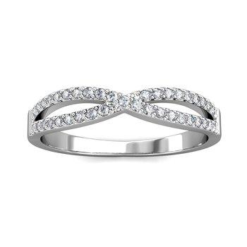 14kw .33ctw Infinity Ring