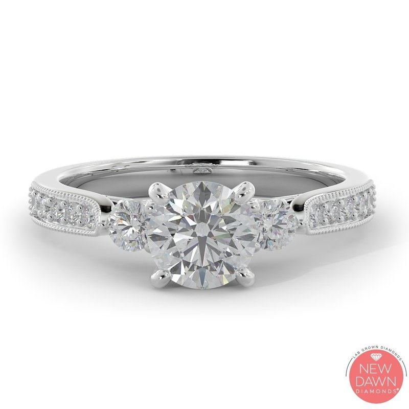 Lab Grown Diamonds 1.06 Diamond Engagement Ring