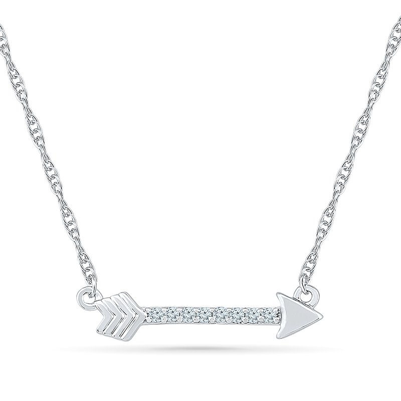 Gifts That Rock Diamond Arrow Necklace