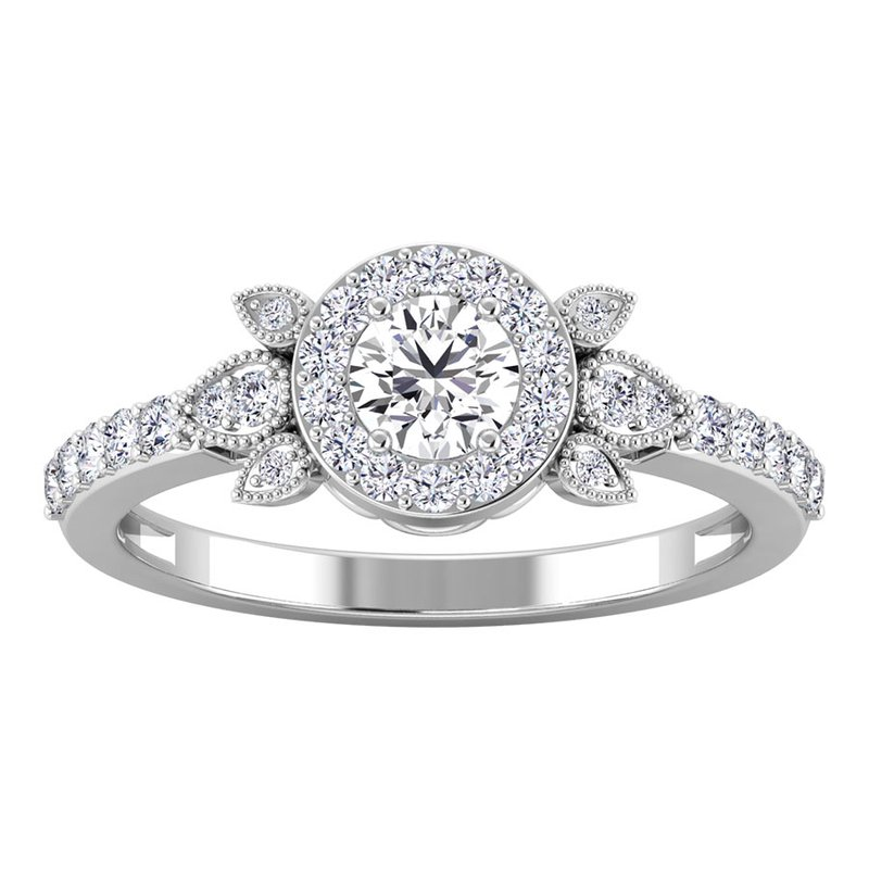 Lab Grown Diamonds Certified 5/8ctw Engagement Ring
