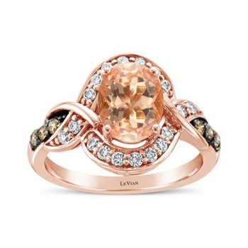 Rose Gold Oval Morganite Ring