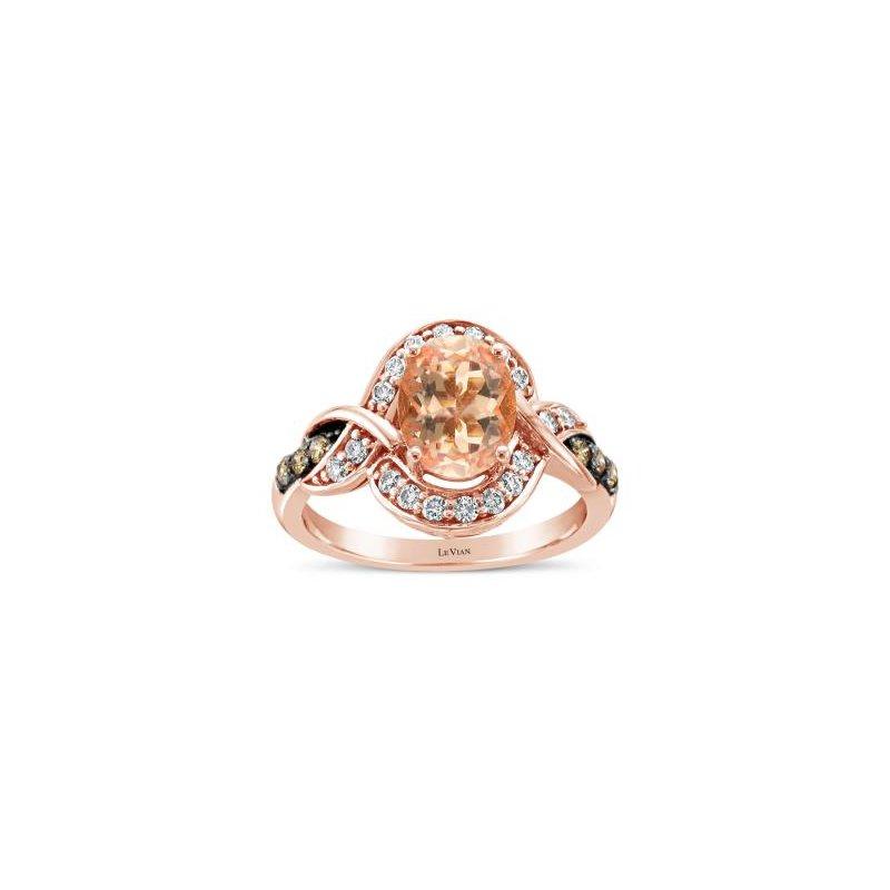 Le Vian Rose Gold Oval Morganite Ring