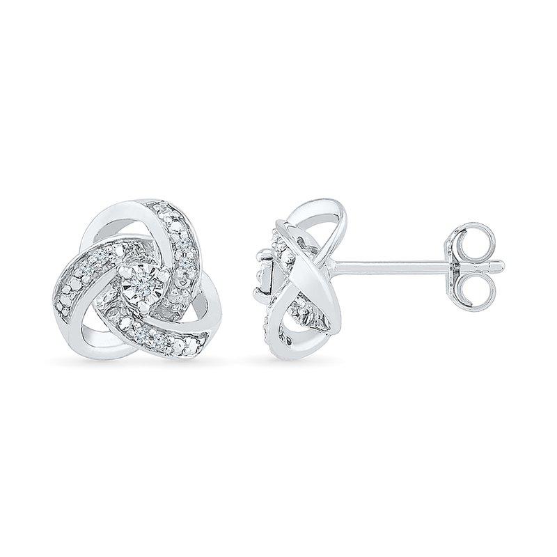 Gifts That Rock Diamond Knot Earrings