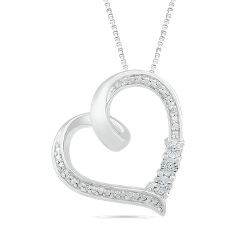 .10ctw Diamond Heart Necklace