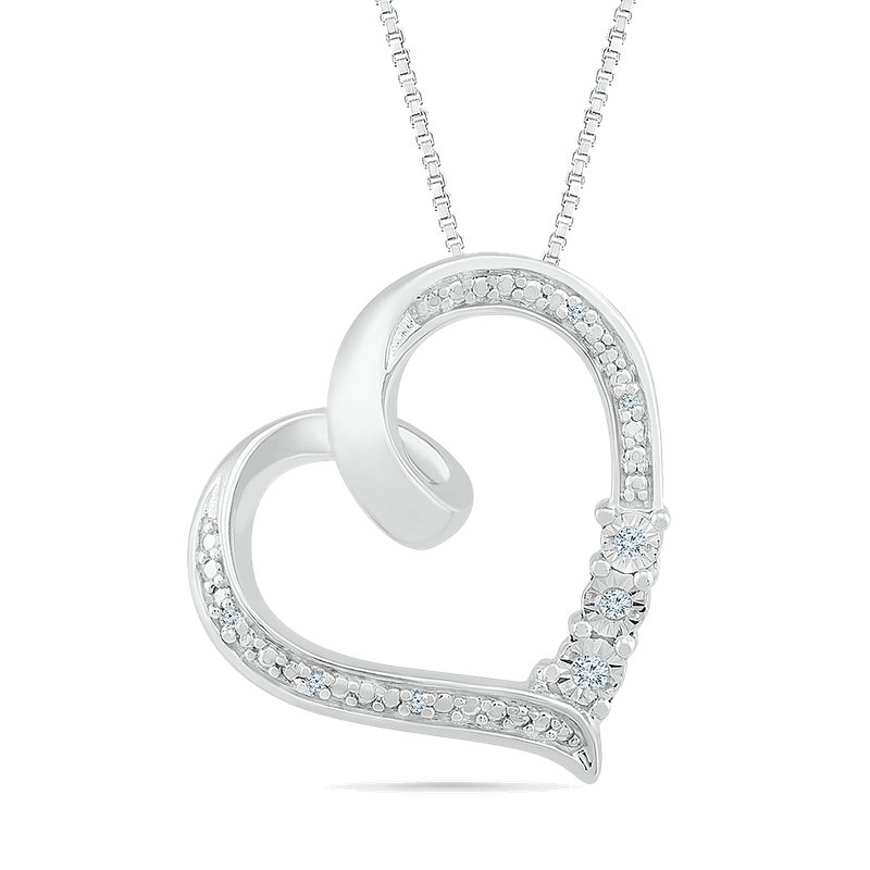 Gifts That Rock .10ctw Diamond Heart Necklace