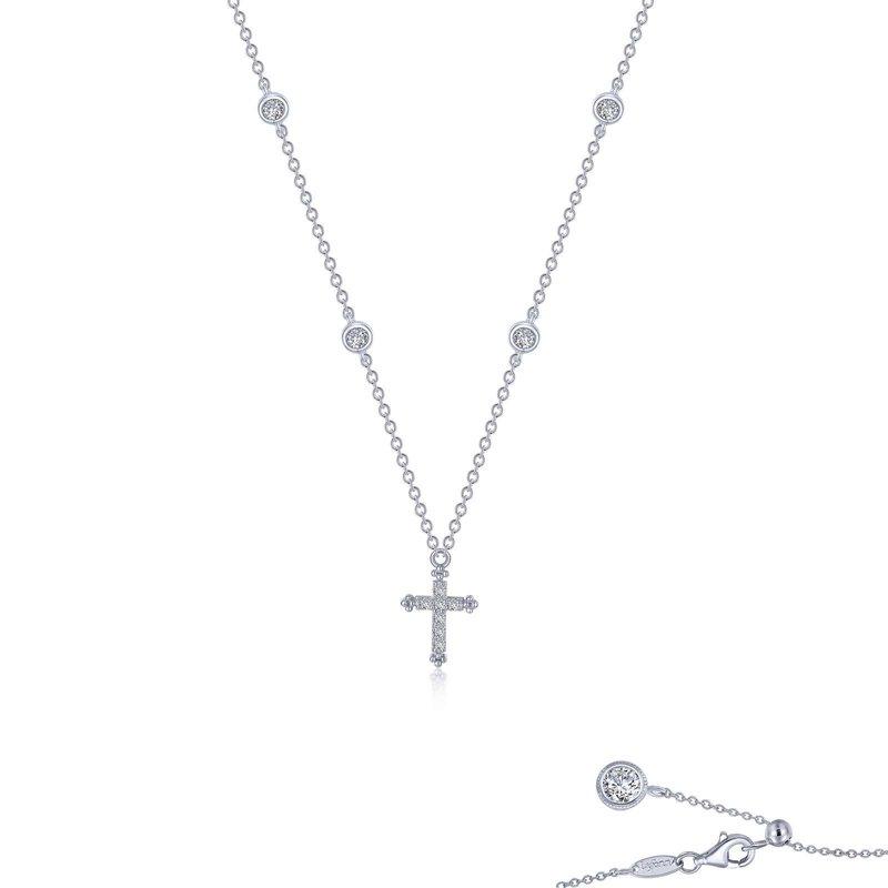 LaFonn 0.41 CTW Cross Necklace