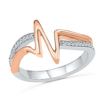 Heartbeat Two Tone Promise Ring