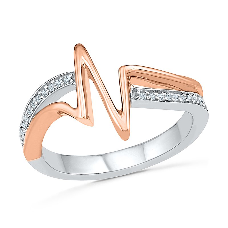 Gifts That Rock Heartbeat Two Tone Promise Ring