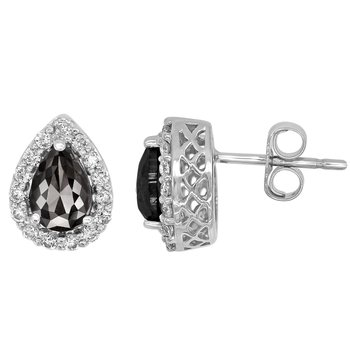 1.5ctw Black Diamond Pear Earrings