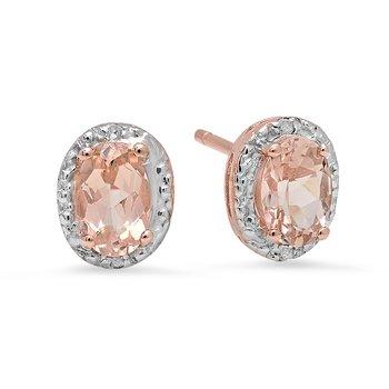 10k Rose Gold Morganite Ring