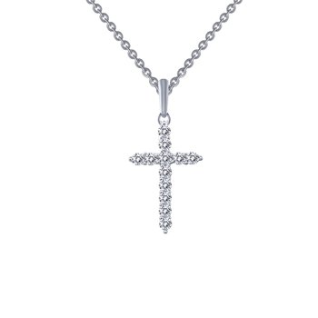 0.36 CTW Cross Pendant Necklace