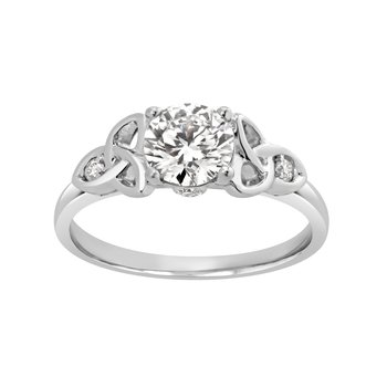 Certified 1ctw Lab Grown Diamond Engagement Ring