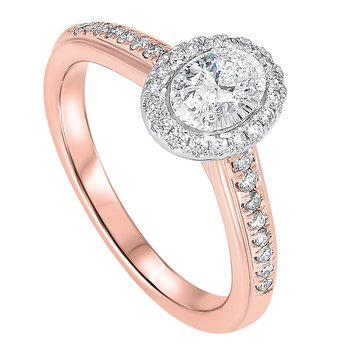 5/8ctw Tru Reflections Oval Halo Engagement Ring