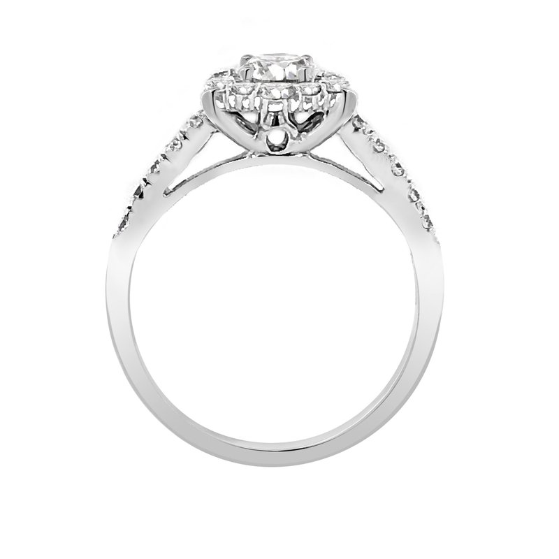 Lab Grown Diamonds Certified 1ctw Diamond Halo Engagement Ring