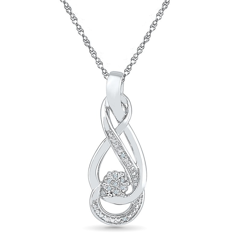 Gifts That Rock SS DIAMOND CLUSTER PENDANT