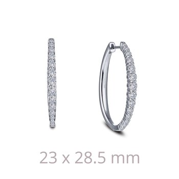 1.16 CTW Oval Hoop Earrings