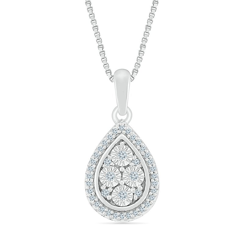 Gifts That Rock 1/10 ctw Pear Shaped Diamond Necklace