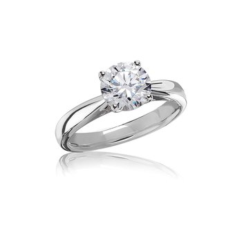 Certified 3ct Round Lab Grown Diamond Solitaire Engagement Ring