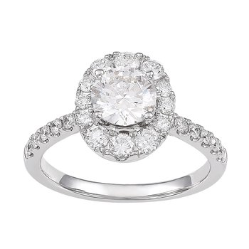 1.75 ctw Diamond Halo Engagement Ring