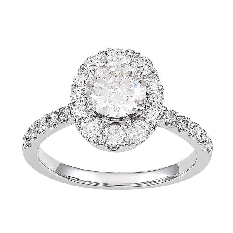 Lab Grown Diamonds 1.75 ctw Diamond Halo Engagement Ring