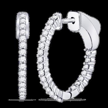 In & Out Diamond Hoop Earrings