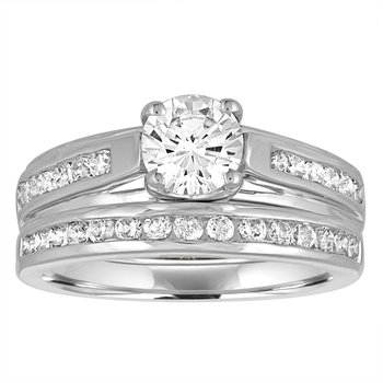 .51 ctw White Gold Bridal Set