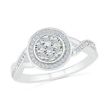1/8 ctw Diamond Promise Ring