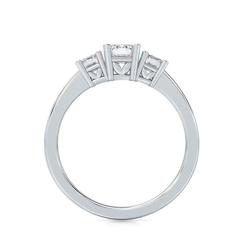 Lab Grown Diamonds 1 ctw-Stone Emerald Cut Diamond Ring