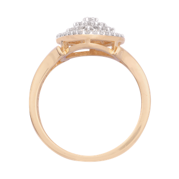 3/8ctw Diamond Cluster Promise Ring