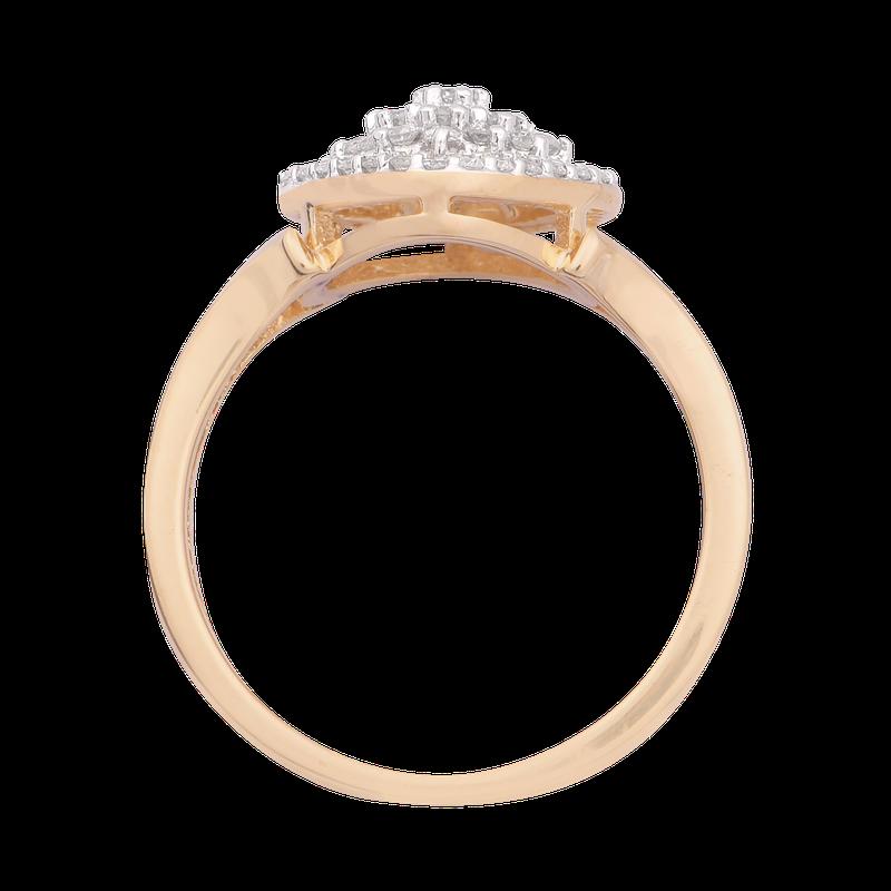 Saslow's & Henebry's Collection 3/8ctw Diamond Cluster Promise Ring