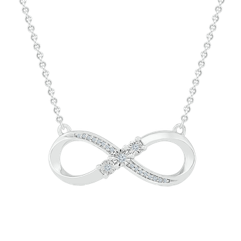.05ctw Infinity Necklace