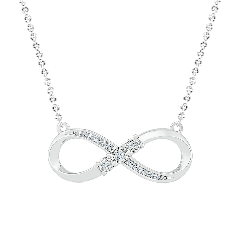 Gifts That Rock .05ctw Infinity Necklace